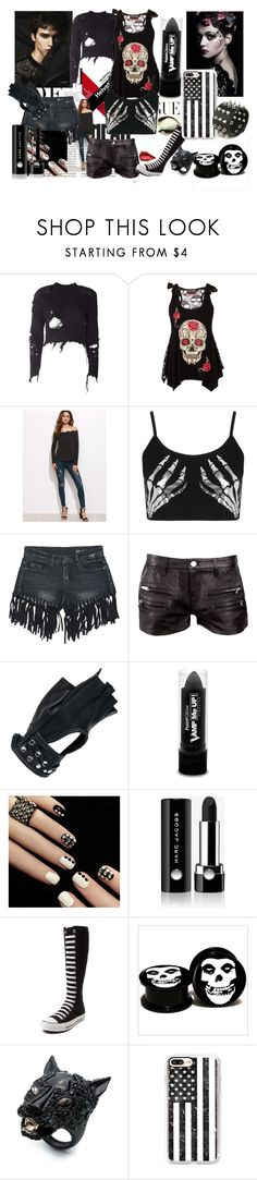 """""""Boo"""" by romanticrosebud on Polyvore featuring Whiteley, Folio, adidas Originals, Boohoo, Sans Souci, IRO, Wilsons Leather, PaintGlow, Marc Jacobs and Converse"""