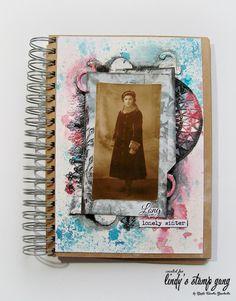 art journal inspiration ... Mixed Media Art Journal Page by Marta Turska-Grochoka (Part 1) | Lindy's Stamp Gang