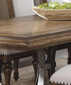 "60"" Round Pedestal Dining Table Cocoa"