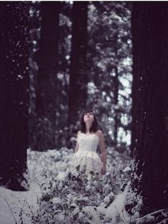 I like the wonder portrayed in this picture - a young woman in an icy world with no idea who she is or where she is.