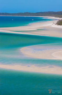 Whitehaven Beach, Queensland, Australia - Whitehaven Beach in the Whitsunday Islands of Queensland is often recognized as Australia's best b...