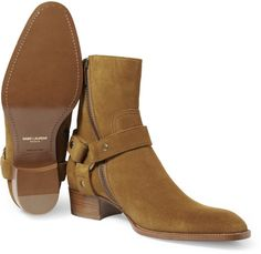Saint Laurent Suede Boots in Brown for Men - Lyst