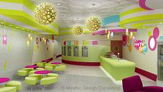 Yogurt shop design FroYo Fiesta designed by Mindful Design consulting