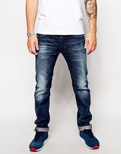 Replay Jeans Lenrick Regular Tapered Fit Dark Wash