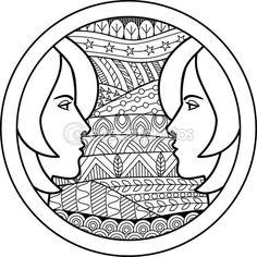 Zodiaco firmar gemini — Vector de stock
