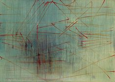 Jean-Marie Bytebier, Zonder titel, 1997, acryl / doek, 100 x 140 cm.  Collectie Vlaamse Gemeenschap