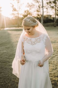 Our stunning 'Candice' gown on our real bride Taylor on her special day. Soooo beautiful... www.paddingtonweddings.com.au #bertossibrides