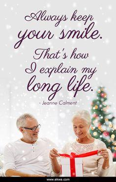 Always keep your smile! :)  #JeanneCalment #DentistWestPalmBeach