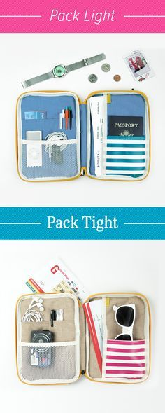 Travel tips? Pack light and pack tight! How and what you pack makes all the difference on a trip. Make sure you have the right accessories like this adorable Better Together Sailor Pattern Pouch! It's perfectly compact so you can pack just the necessities. Use it to securely carry your passport, boarding pass, tickets, and maps. Organize everything in the endless pockets, zip it up, toss it in your carry on, and you're good to go! Check it out and make packing for your next vacation a…
