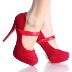 Womens Mary Jane Shoes Red Platform Pumps Stiletto Sexy High Heels