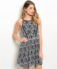 Kianna Dress - Black and White