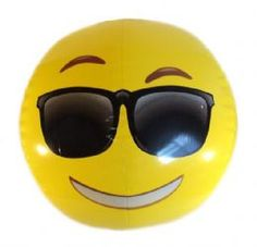 emoji beach ball cool sunglasses face emoticon inflatable novelty toys novelty gifts