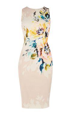 Karen Millen, Floral Pencil Dress Multicolour