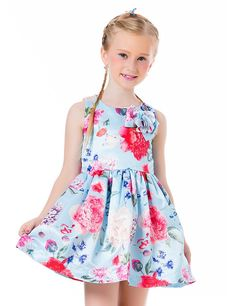Amazon.com: Ephex Toddler Girls Flower Princess Silky Dress with Floral Print 2-11T: Clothing