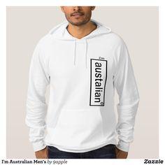 I'm Australian Men's Hoodie - Stylish Comfortable And Warm Hooded Sweatshirts By Talented Fashion & Graphic Designers - #sweatshirts #hoodies #mensfashion #apparel #shopping #bargain #sale #outfit #stylish #cool #graphicdesign #trendy #fashion #design #fashiondesign #designer #fashiondesigner #style