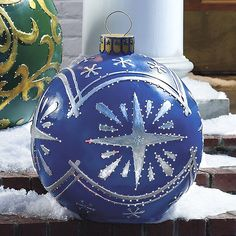 Christmas Outdoor Decor Giant lawn christmas ornaments  Large