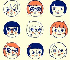 Girls, Girls, Girls! 12 pissy, sweet, and savvy girl faces illustrated and screen printed on thick, luscious Pop*Tone paper. Give it to your bestie, your girl crush, or hang it in your lady-lovin apartment/studio/house/cubicle!    Hand screen prinnted on 8.5 x 11 USA made signed and dated. Perfect for mounting!