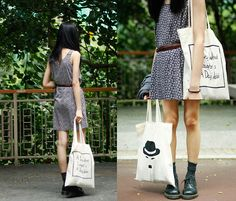 Tote bag:D   Unless you speak from your heart (by Kiki Li) http://lookbook.nu/look/3596059-Unless-you-speak-from-your-heart