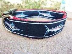 Sweet nautical dog collar