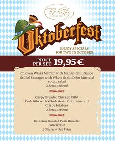 BlackSeaRama has a thematic promotional menu in honour of Octoberfest.  More info @ https://www.blacksearama.com/newsbg/title/oktoberfest-v-blacksearama