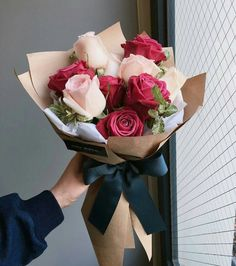 bouquet gift New Flowers Roses Gift Bouquets Ideas Boquette Flowers, How To Wrap Flowers, Fresh Flowers, Planting Flowers, Wedding Flowers, Flower Bouqet, Gift Flowers, Flowers Decoration, Send Flowers
