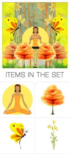"""cotton candy tree"" by jazzy ❤ liked on Polyvore featuring art"