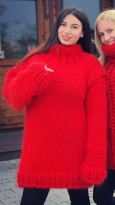 Turtleneck Outfit, Red T, Thick Sweaters, Mohair Sweater, Warm And Cozy, Jumper, Turtle Neck, Pullover, Wool