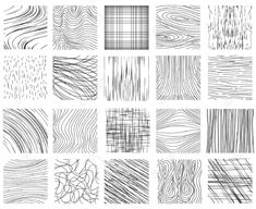 Hand drawn ink line textures. Set of design abstract background pattern, vector illustration