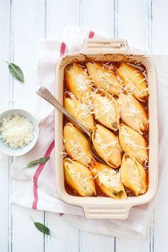 Baked Pumpkin & Ricotta Stuffed Shells