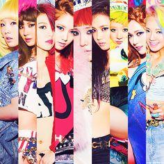 Taeyeon, Seohyun, Sooyoung, Yoona, Tiffany, Yuri, Sunny, Jessica, and Hyoyeon