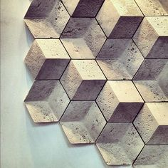 (bath room tiles) Geometric tiles by Giovanni Barbieri Handmade tiles can be colour coordianated and customized re. shape, texture, pattern, etc. by ceramic design studios Deco Design, Tile Design, Bath Design, Floor Design, Design Design, Interior Design, Tile Patterns, Textures Patterns, Wall Textures