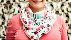 So easy to make a different kind of scarf!  Love! #DIY #scarf #fleecefun