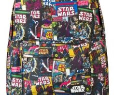 Star Wars Comic Print Backpack, If you're a Star Wars fanatic, you have to bring all of your favorite characters with you wherever you go. spenditonthis.com