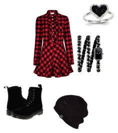 """""""Untitled #6"""" by jazzysamek on Polyvore featuring RED Valentino, Dr. Martens, UGG Australia, Chanel and Kevin Jewelers"""