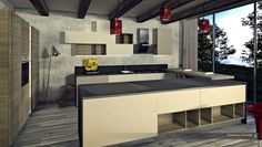 #kitchen #design #rendering rendering by FRANCESCO PISCOPO_architetto