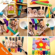 Пазл из палочек - учим цвета и арифметику!  Предлагаем вам с детьми сделать своими руками поделку, которая поможет научиться считать, выучить цвета и развить память.