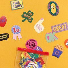 THENCE STICKER PACK VER.4 Kids Branding, Graphic Design Branding, Graphic Design Posters, Graphic Design Inspiration, Packaging Design, Grafik Design, Cute Stickers, Design Reference, Layout Design