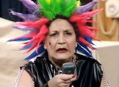 """Punk Mrs. Slocombe - """"Are You Being Served"""" BBC 1972-1985."""