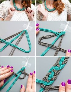 46 Easy DIY Jewelry Tutorials for Accessories Unique to You . - 46 easy DIY jewelry unique accessories for you … - Beaded Statement Necklace, Diy Necklace, Beaded Jewelry, Handmade Jewelry, Necklace Ideas, Beaded Bracelet, Beaded Necklaces, Zipper Bracelet, Diamond Necklaces