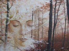 Sleep in dream  Acrylic on canvas 160x120cm.
