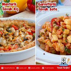 Tavuklu lezzetlerden hangisini seçerdiniz? :) Tarifleri: www.penguenyemektarifleri.com