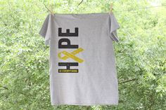 Textured Vertical Childhood Cancer Support Hope by Nestingproject, $15.00
