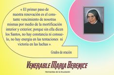 Venerable Berenice 1 www.madremariaberenice.com Create Your Own Website, Create Yourself, 1, Learning, Degree Of A Polynomial, Prayers, Studying, Teaching, Onderwijs