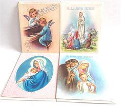 Vintage#RosaryCards 1953 1954 lot of 4 Unused