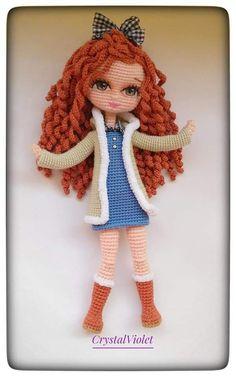 Crochet Doll Pattern, Crochet Art, Crochet Dolls, Doll Making Tutorials, Yarn Dolls, Dress Up Dolls, Sewing Diy, Amigurumi Doll, Doll Toys