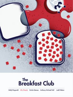 A Sleek Poster Series Of 'The Breakfast Club' Reimagined For Millennials - DesignTAXI.com