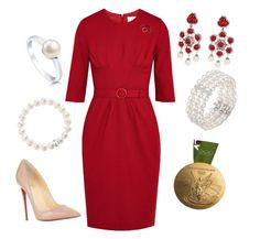 """""""Presenting Olympic Medals"""" by nmccullough ❤ liked on Polyvore featuring Goat, Christian Louboutin, Thomas Sabo, BERRICLE and Bloomingdale's"""