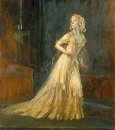 """Painting entitled """"Vivien Leigh as Blanche Dubois in A Streetcar Named Desire by Tennessee Williams"""" by Alfred Kingsley Lawrence, Museum Number Samuel Beckett, Vivien Leigh, August Strindberg, Streetcar Named Desire, Ap Studio Art, Tennessee Williams, Art Uk, Victoria And Albert Museum, Betty Boop"""