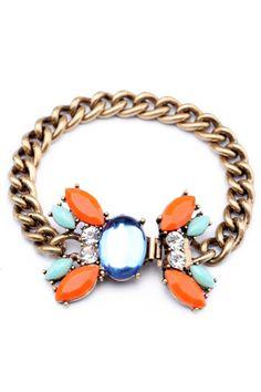 Boho Faux Stone Charm Bracelet - OASAP.com