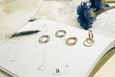 Bonny & Read 平價飾品 - 【獨家訂製】玫瑰金BR雙圈戒指  NT.284